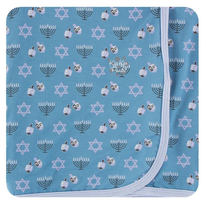 Blue Moon Hanukkah Swaddling Blanket 1