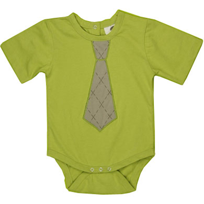 Tie bodysuit in Dill by Kate Quinn Organics - 6-12 months 1