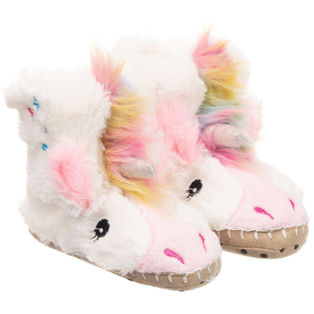 Unicorn children's slippers 1