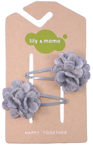 Grey Snapdragon hair clips 1