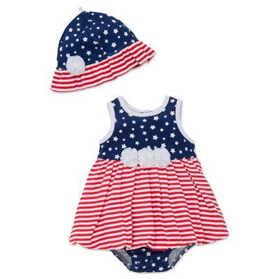 Americana one piece romper and hat 1