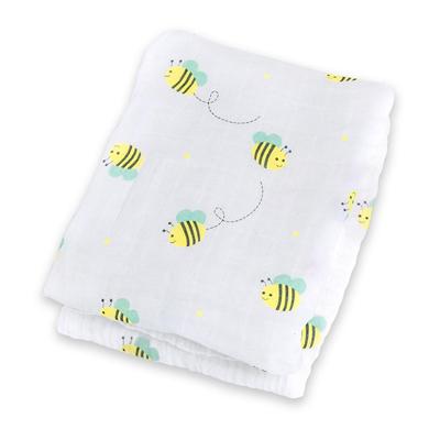 Bumbling Bee muslin swaddling blanket 2