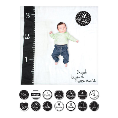 Baby's First Year Blanket & Cards Set - Loved Beyond Measure 1