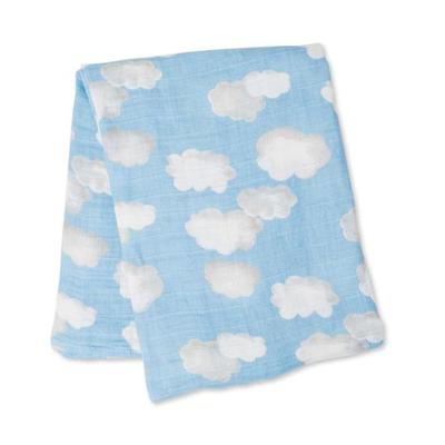 Clouds muslin swaddle blanket 2