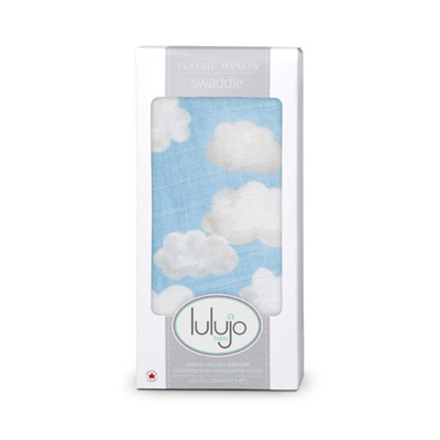 Clouds muslin swaddle blanket 1