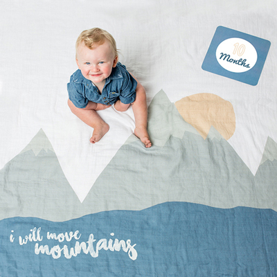 Baby's First Year Blanket & Cards Set - I Will Move Mountains 1