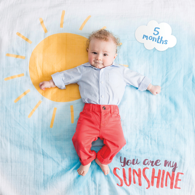 Baby's First Year Blanket and Cards Set - You Are My Sunshine 2