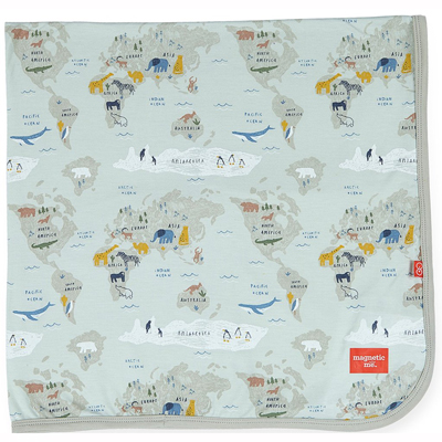Sea the World modal swaddle blanket 1