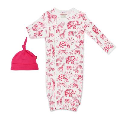 Pink avant gardimal organic magnetic gown set 1