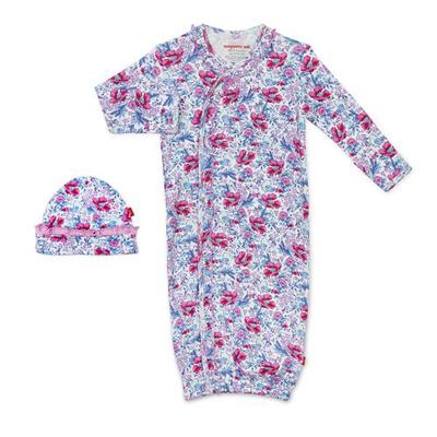Darlington floral organic cotton magnetic gown 1