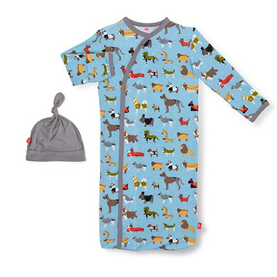 In-dog-nito modal magnetic gown and hat set 1