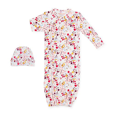 Pom Pom Organic Cotton magnetic gown and hat 1
