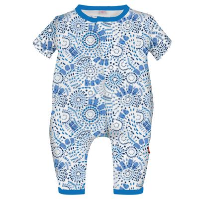 Blue mosaic magnetic union suit - NB 1