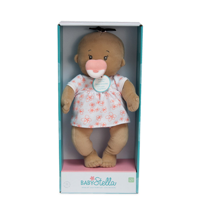 Baby Stella beige with pink and white outfit 2