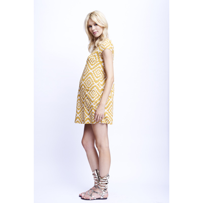 Mustard Tapestry maternity shift dress 2