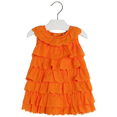 Orange tiered ruffle dress - 12 months 1