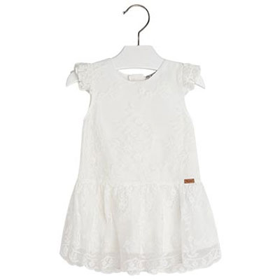 Embroidered cream lace dress 1
