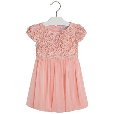 Apricot tulle bubble dress 1