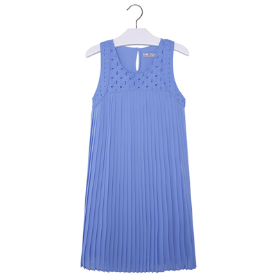 Porcelain blue dress with eyelet top 1