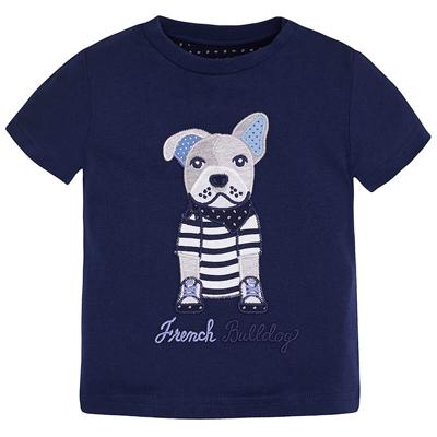 Navy bulldog shirt 1