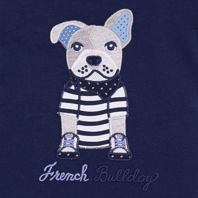 Navy bulldog shirt 2