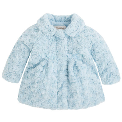 Blue faux fur coat 1