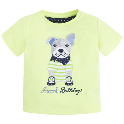 Green Bulldog embroidered shirt 1