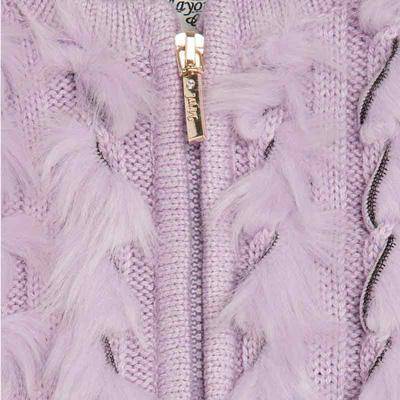 Lavender faux fur vest 2