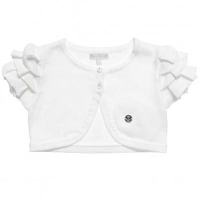 White knit short cardigan 1