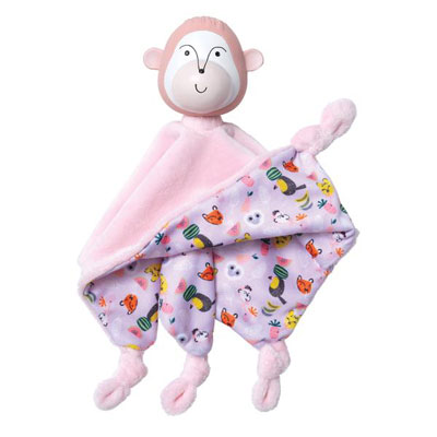 Fruity paws teether and cuddle momo monkey blankie 1