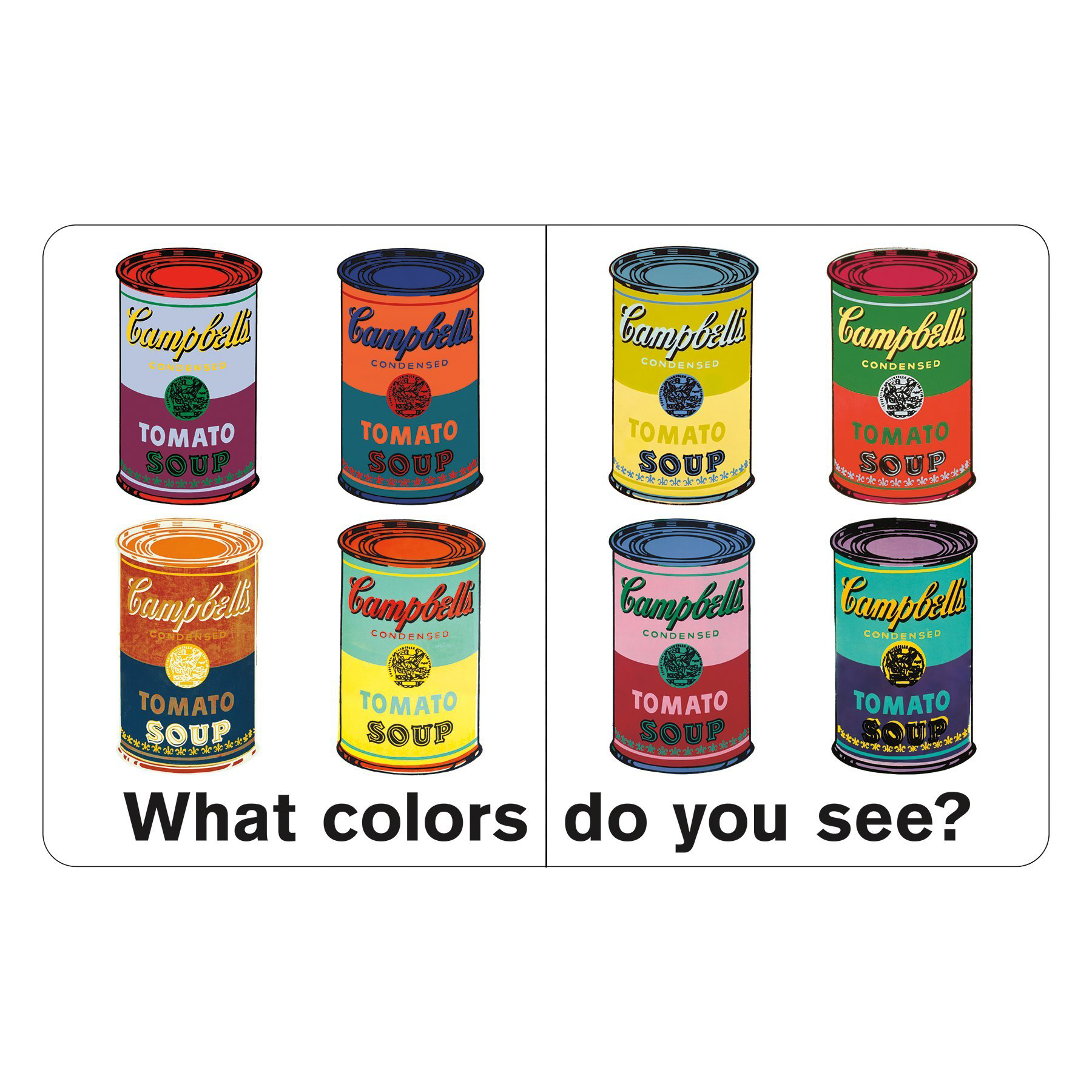 Andy Warhol What Colors Do You See? Board Book 4