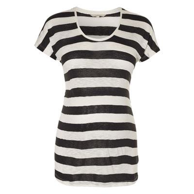 Cissy charcoal stripe maternity tee 1