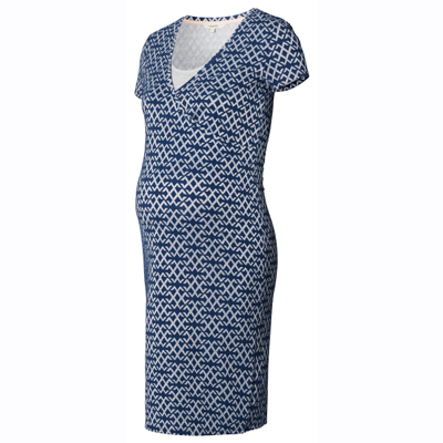 Elisa dark blue nursing dress 2