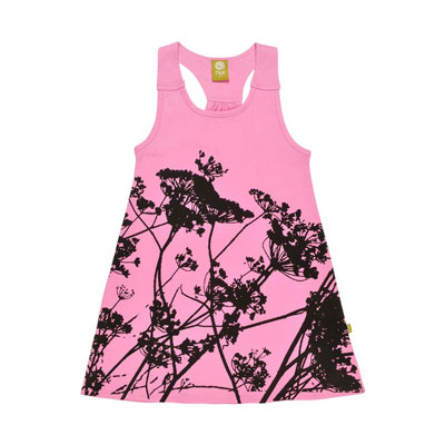 Tahila fuschia organic tank dress 1