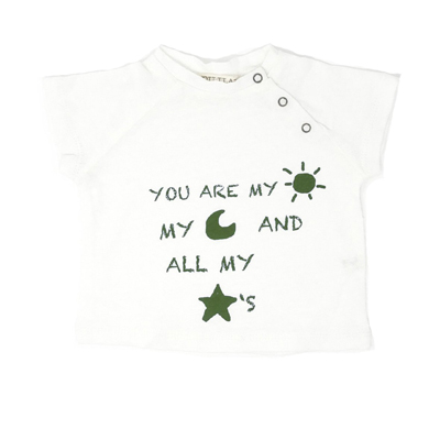 Sun,Moon and Stars shirt(olive green lettering) 1