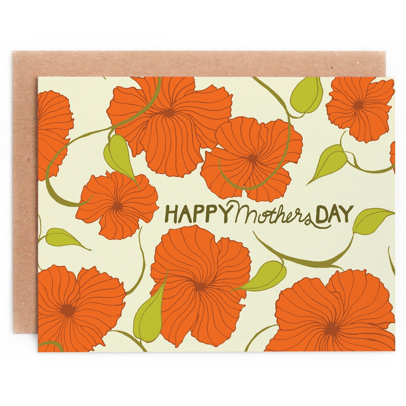 Swirling Flower Mother's Day Card 1