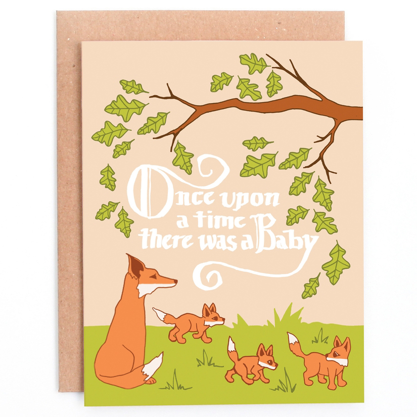 Once Upon A Time Baby Card 1