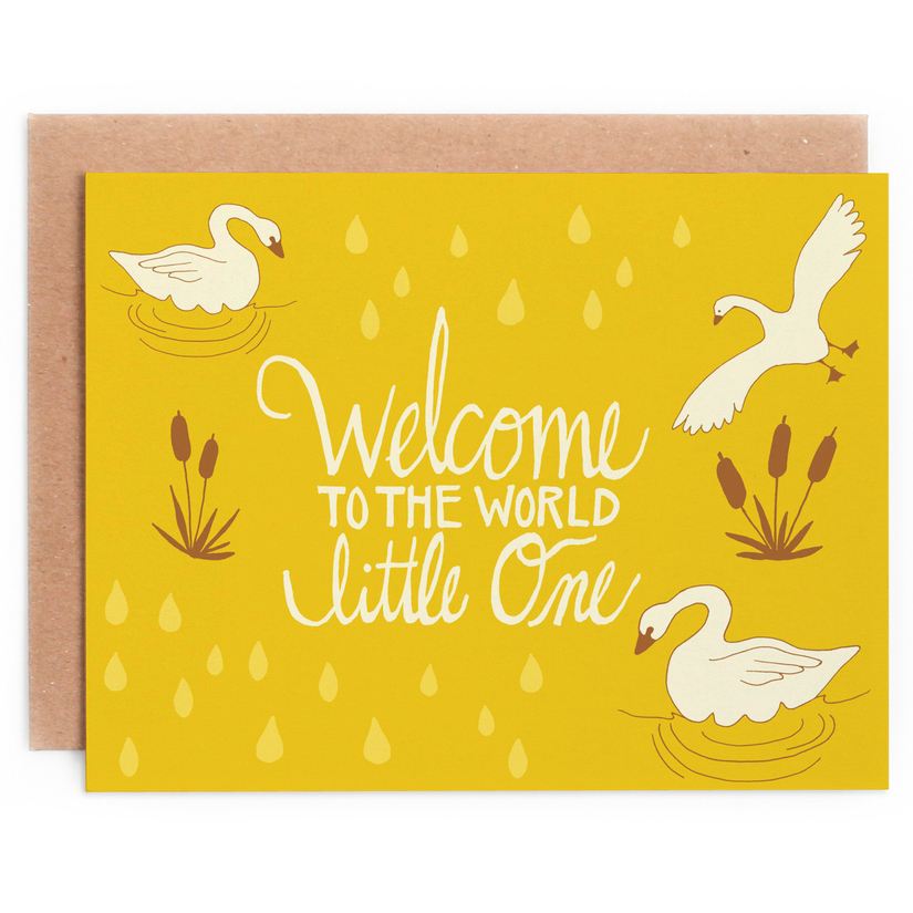 Welcome to the World baby card 1