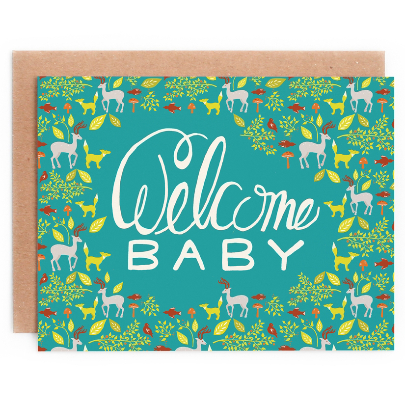 Woodland Welcome Baby Card 1