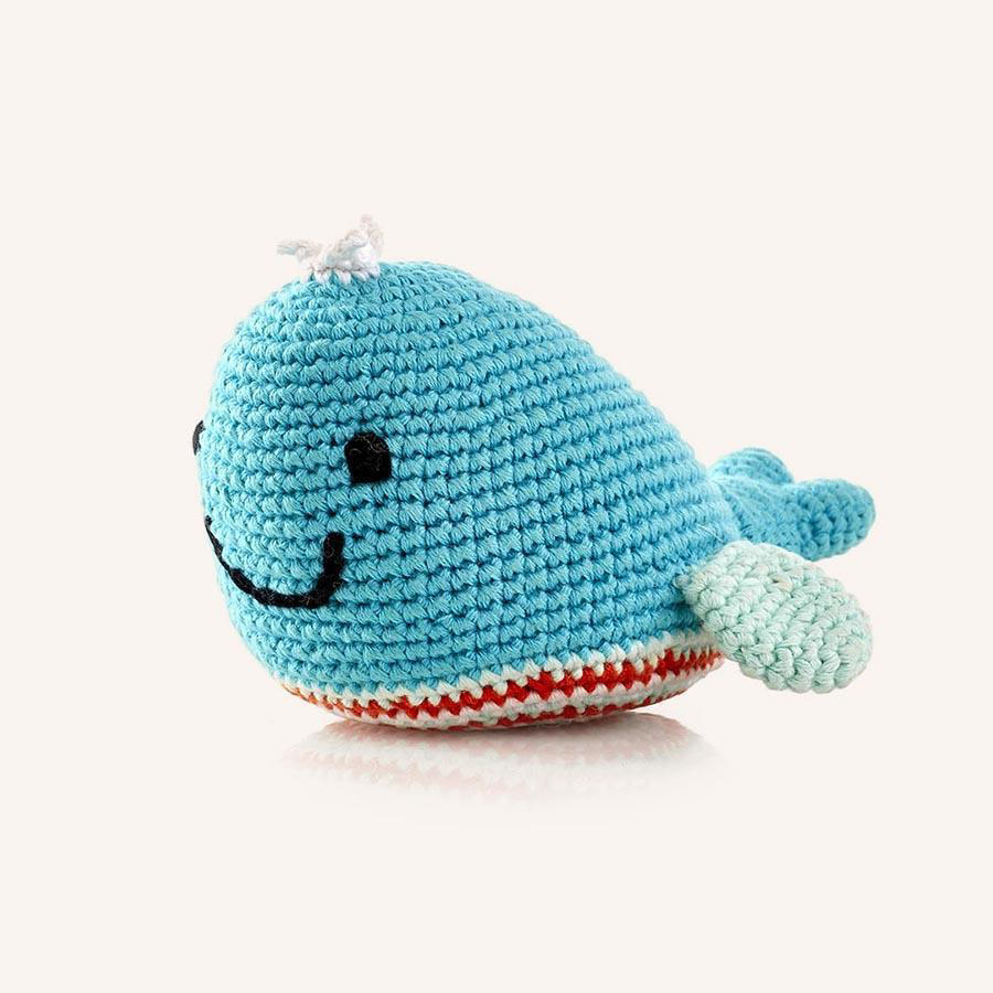 Deep Turquoise Whale Rattle 1