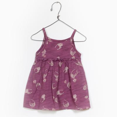 Mauve hand and flower dress 1
