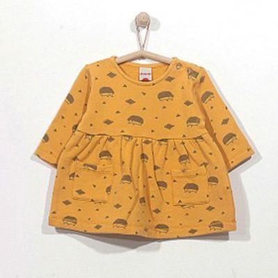 Fleece Hedgehog dress in honey - 12 months 1