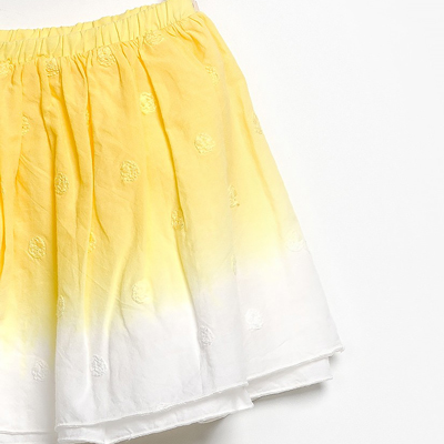 Yellow ombre skirt 2