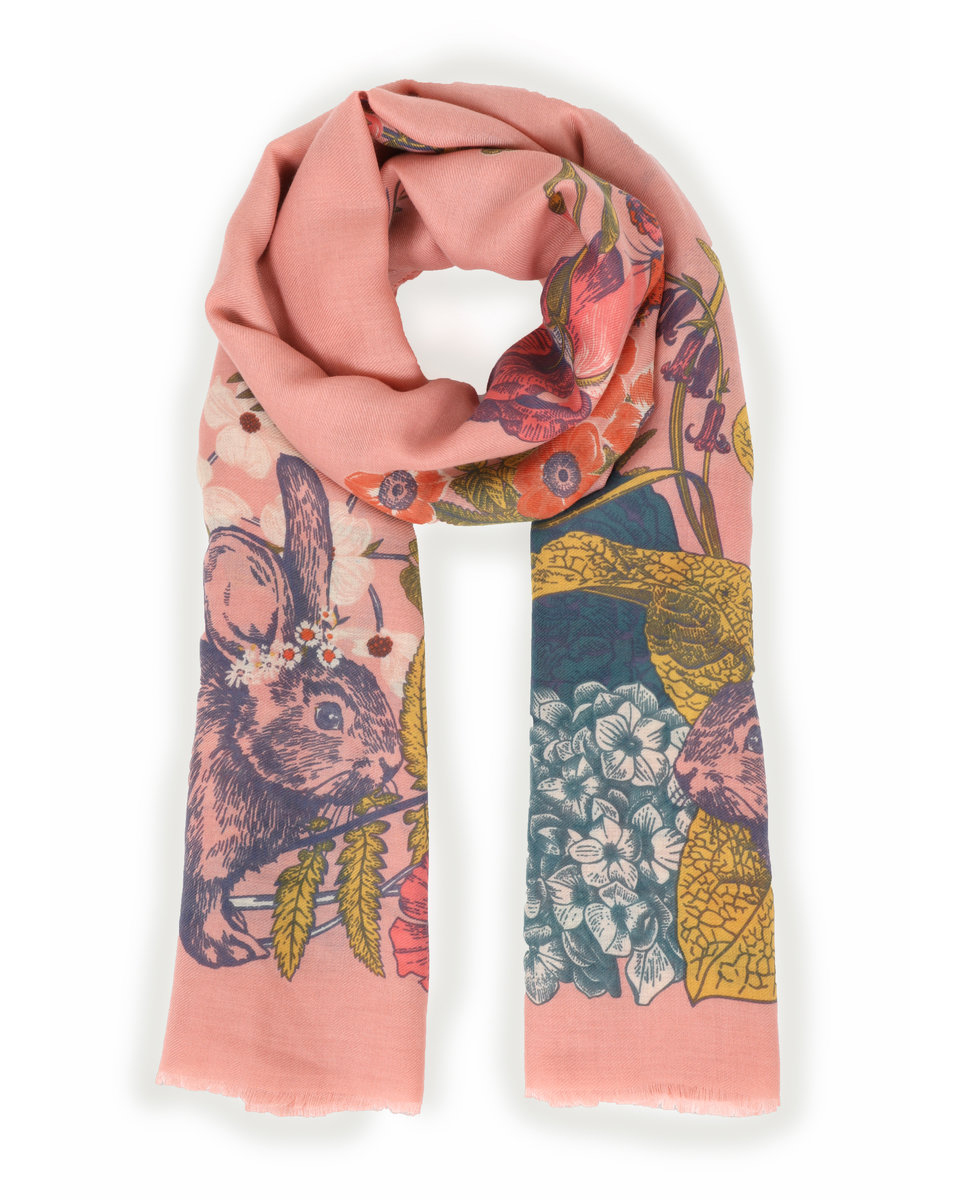 Countryside animals print scarf 1
