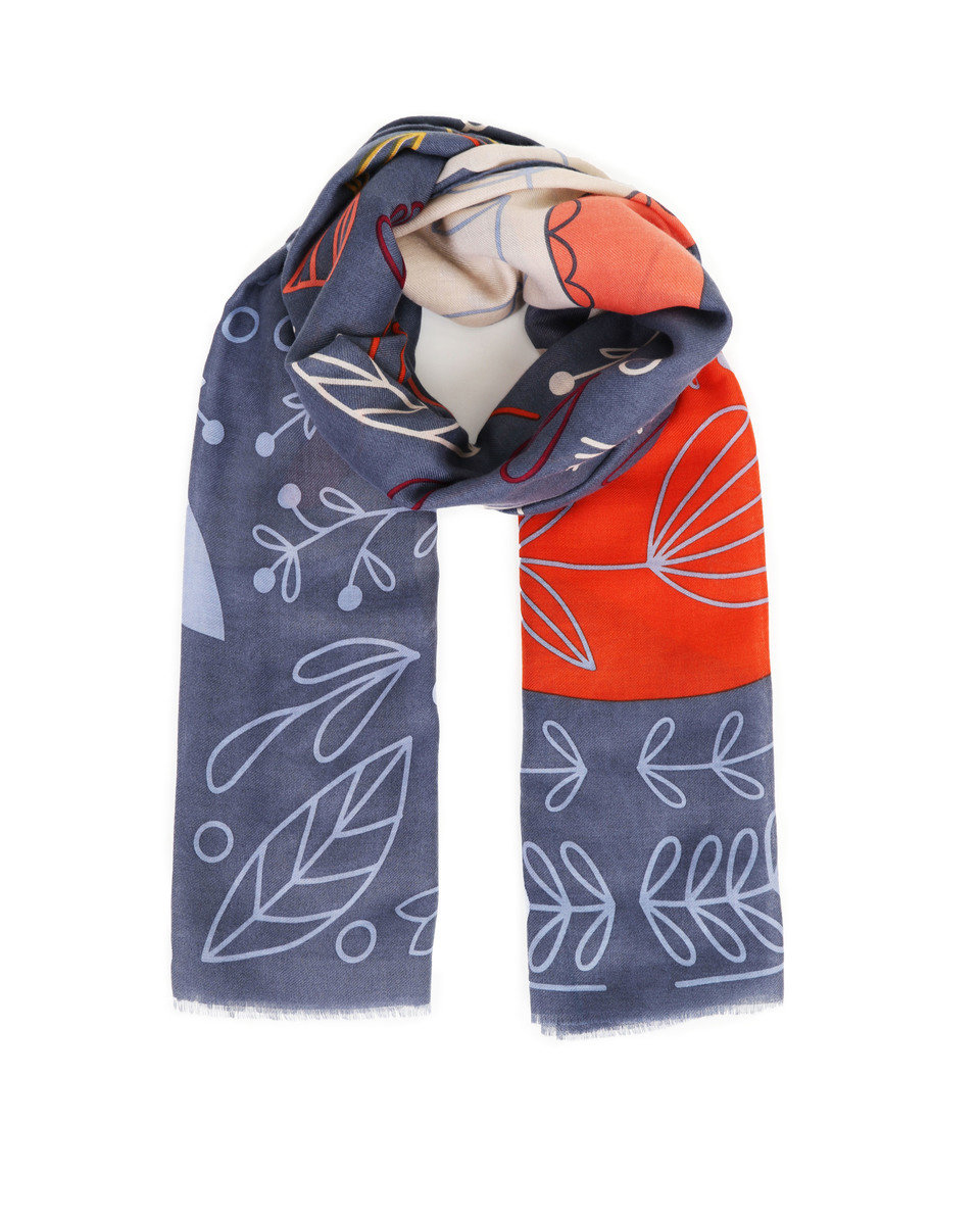 Scandi Fox and  Hare print scarf 1