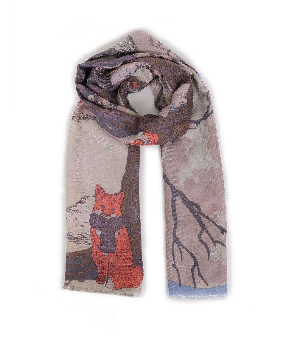 Winter chums print scarf 1