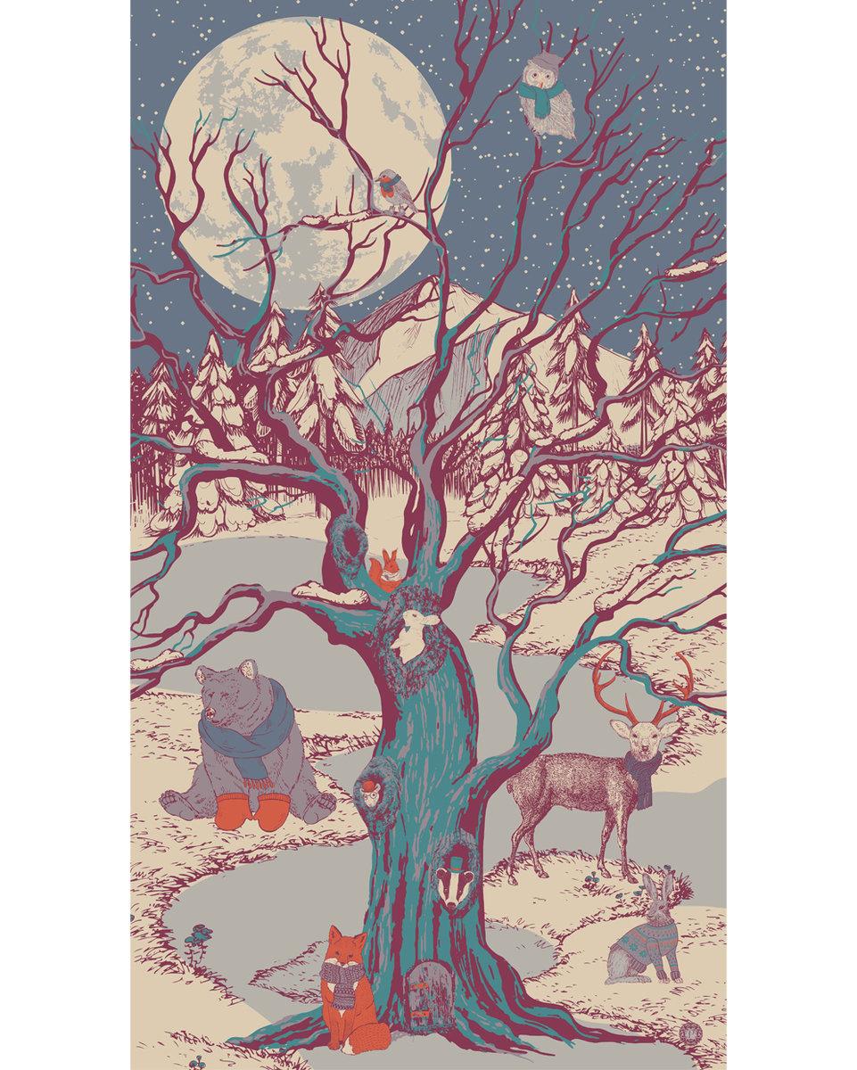 Winter chums print scarf 2