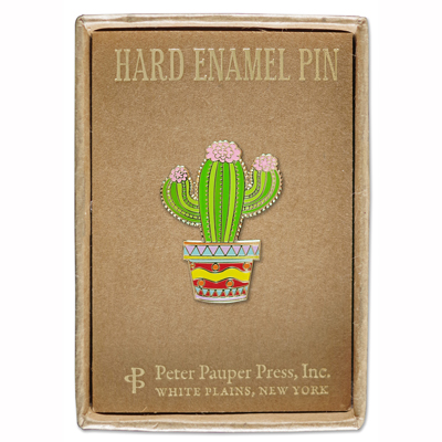 Cactus enamel pin 2