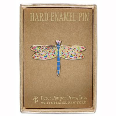 Dragonfly enamel pin 2