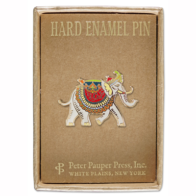 Elephant enamel pin 2